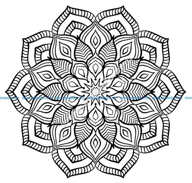 Mandala Grosse Fleur Amee House