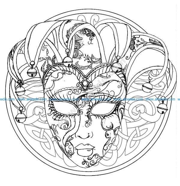 Mandala masque du carnaval de venise
