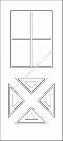 Modern Door CAD Block