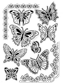 Nature papillons coloriage adulte difficile
