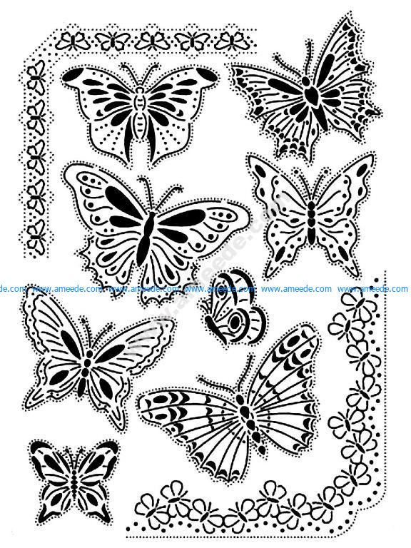 Nature Papillons Coloriage Adulte Difficile Amee House
