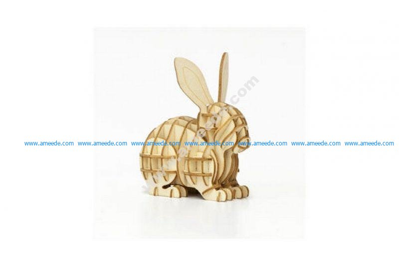 Rabbit 3D Puzzle – Amee House