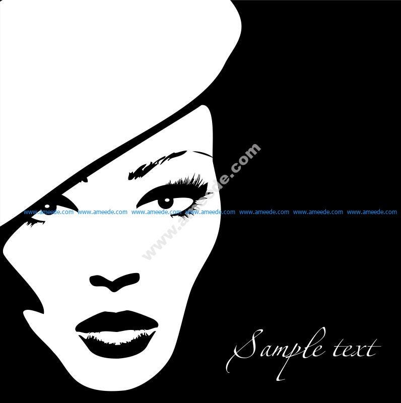 Woman Face Vector Illustration 4