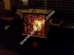 Customizable 6mm laser cut outdoor lantern 8×8 panels