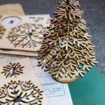 Laser-cut flat-pack Christmas tree