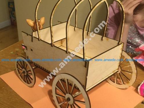 Lasercut Covered Wagon