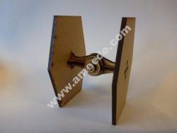 Lasercut, super simple mini Tie fighter