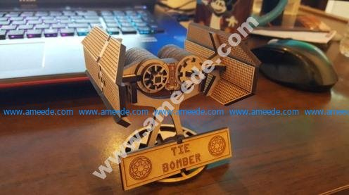 Mini Star Wars Tie Bomber with Stand