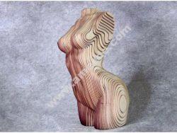 Sliced Woman Torso – DIY Plywood Craft