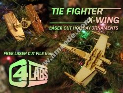 Tie Fighter & X-Wing Laser Cut Ornaments – C4 Labs