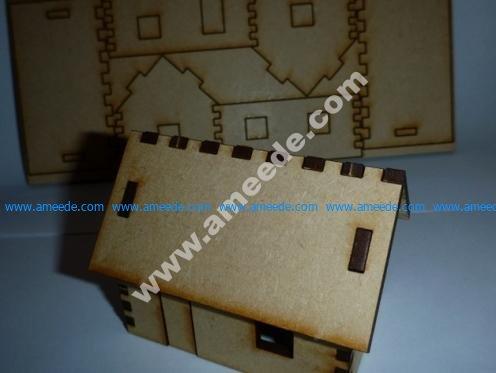Tiny, lasercut house