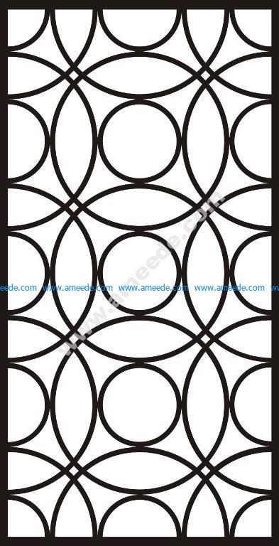 Interlocking engraving pattern