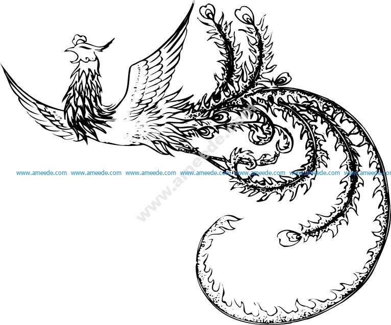 Phoenix pattern vector
