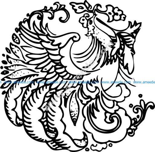 Phoenix Chinese wind patterns