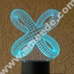 Twisted knot 3D Illusion Lamp LED Night Lights