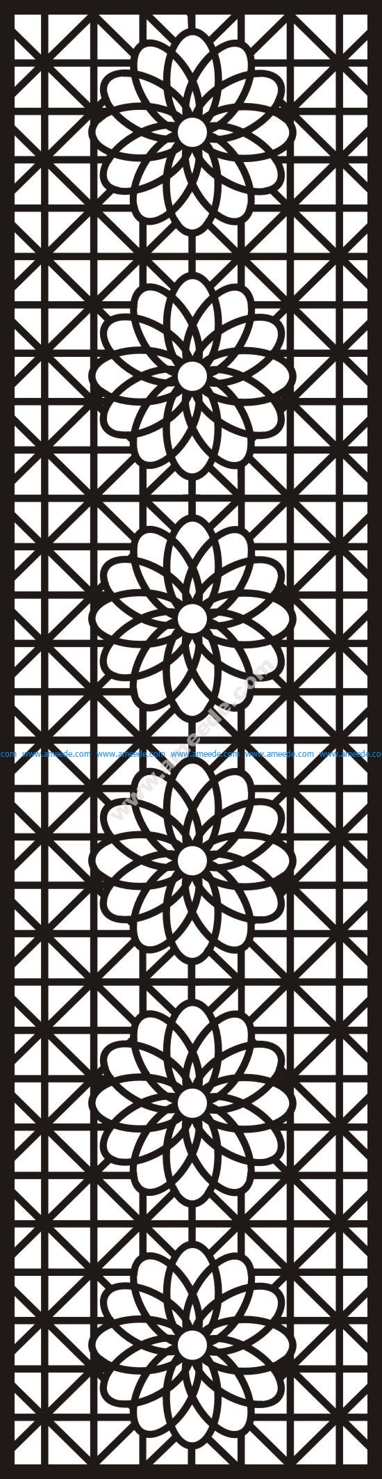 Chinese style pattern partition wall