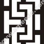 Geometric Line Frame Art Border
