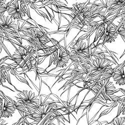 Floral seamless wedding pattern background