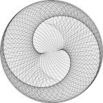 Abstract spiral monochrome 3d illusion lamp