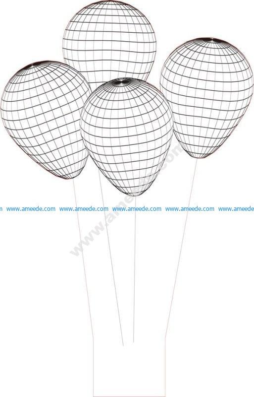Balloon 3d Illusion Lamp