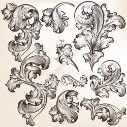 Calligraphic Vintage Vector