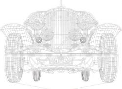Car 3d Illusion Lamp Vector