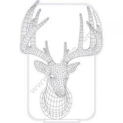 Deer 3d illusion lamp
