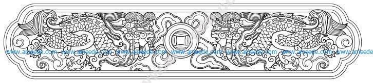 Vietnamese dragon pattern