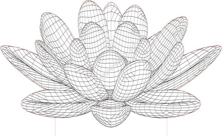 Lotus Flower Lamp 3D Illusion