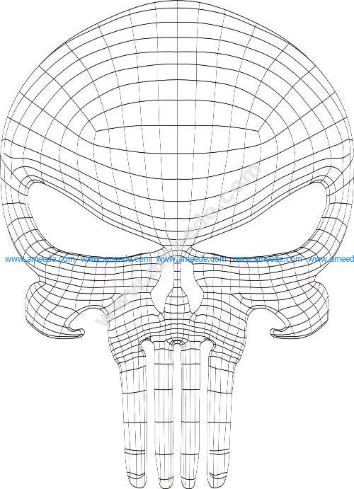 Punisher skull 3d illusion lamp