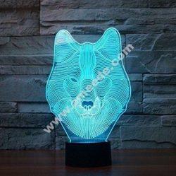 Wolf 3d Lamp LED Night Light