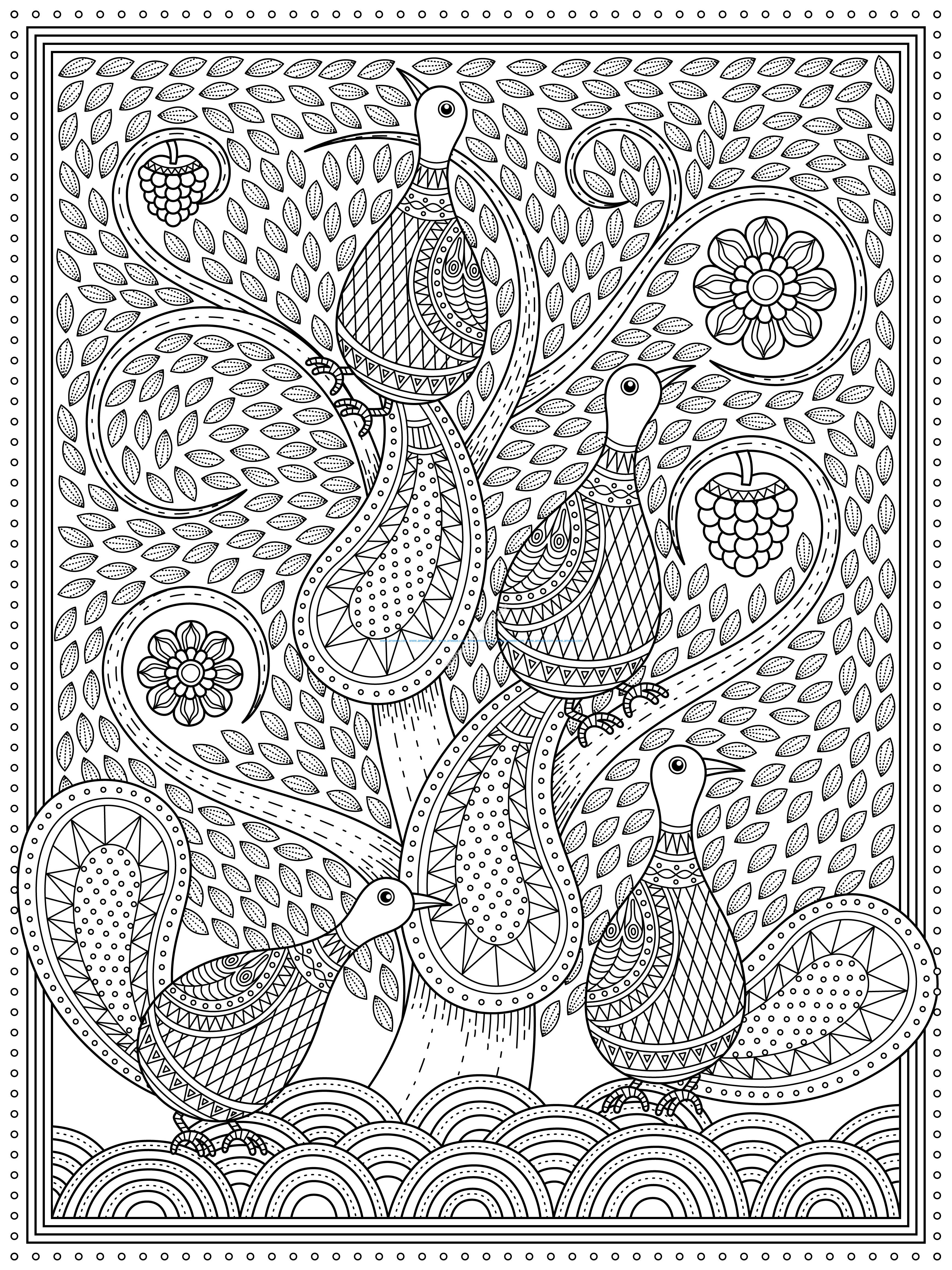 peacocks in the whirl tree