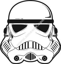 stormtrooper helmet 3d illusion lamp vector file