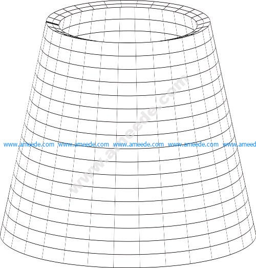 table lamp 3d illusion lamp vector