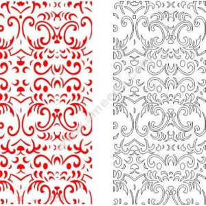 pattern vector cnc carvings 2D12