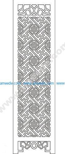 pattern vector cnc carvings 2D9