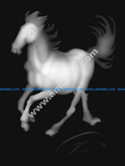 3D Grayscale Horse BMP
