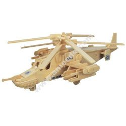 3D Wooden Helicopter Assembly Puzzle