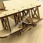 Bi Plane 0.125in Wooden Toy Airplane Laser Cut