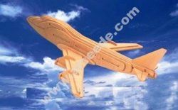 Boeing plane model made of wood