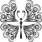Butterfly Abstract Decor Free Vector