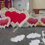 Cut Hearts Vu Quy Ceremony wedding decorations