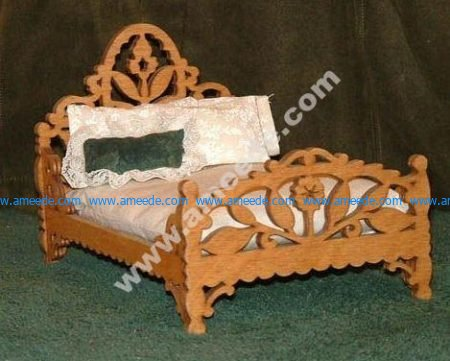 Decorative Bed Laser Cut CNC Router Plans