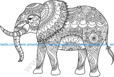 Elephant Black Vector Free Vector