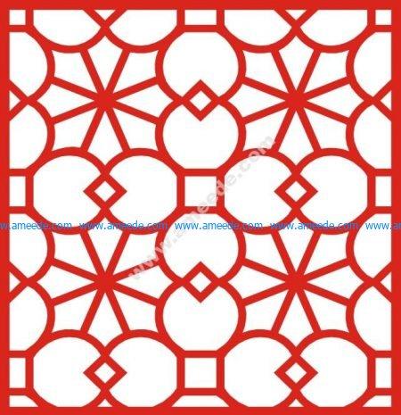 European-style window saw pattern