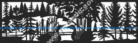 Loon Panel No Mountains Plasma Metal Art DXF