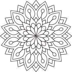 Mandala Des Flower EPS
