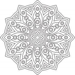 Mandala Des Geometrical EPS