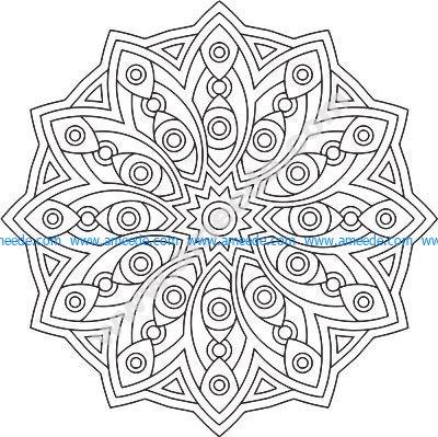 Mandala Des Geometrical Free Vector