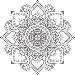 Mandala Floral Design EPS